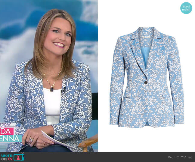 Macey Blazer by Alice + Olivia worn by Savannah Guthrie  on Today