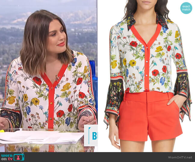 Randa Blouse by Alice + Olivia worn by Carissa Loethen Culiner  on E! News