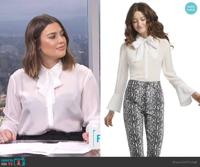 Boyd Blouse by Alice + Olivia worn by Carissa Loethen Culiner  on E! News