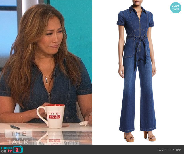 Gorgeous Denim Jumpsuit by Alice + Olivia worn by Carrie Inaba  on The Talk
