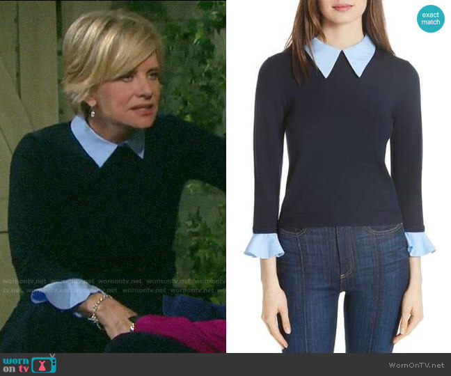 Alice + Olivia Aster Sweater worn by Kayla Brady (Mary Beth Evans) on Days of our Lives