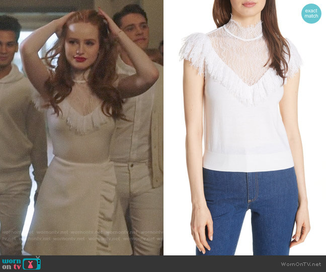 Alice + Olivia Beth Top worn by Cheryl Blossom (Madelaine Petsch) on Riverdale