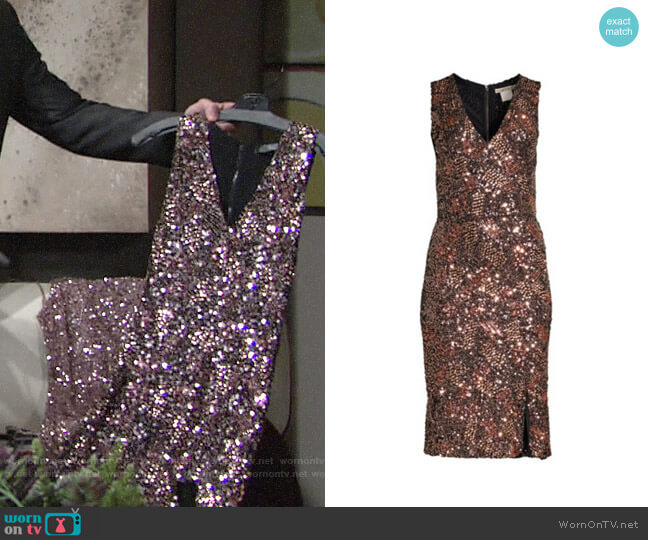 Alice + Olivia Natalie Dress worn by Hilary Curtis (Mishael Morgan) on The Young & the Restless