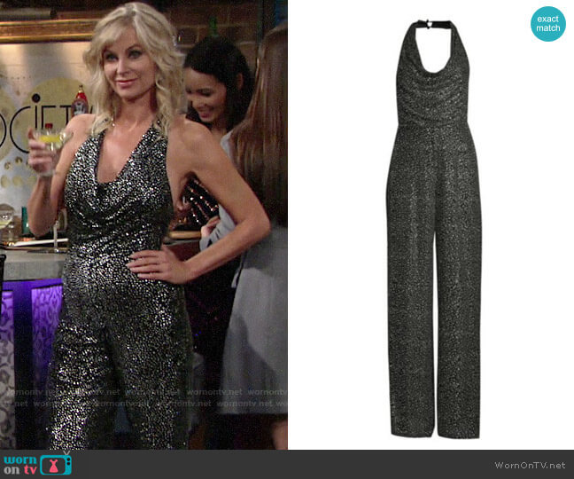 Alice + Olivia Salem Jumpsuit worn by Ashley Abbott (Eileen Davidson) on The Young & the Restless