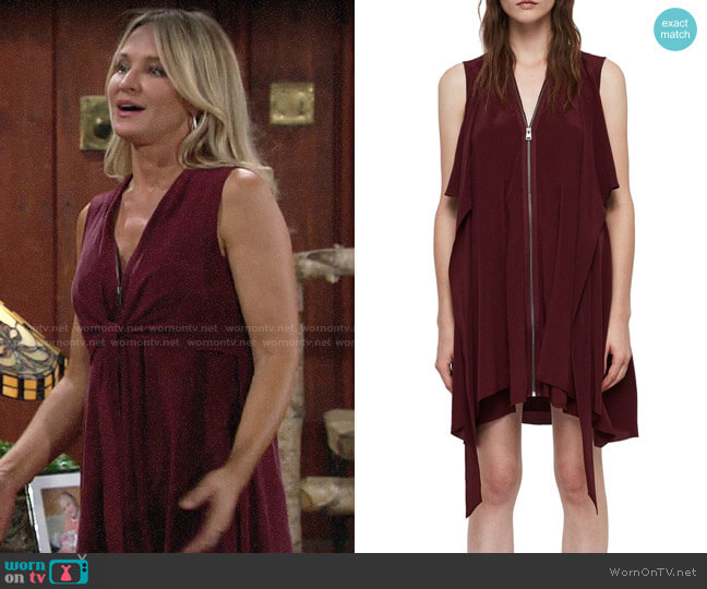 All Saints Jayda Dress worn by Sharon Collins (Sharon Case) on The Young & the Restless