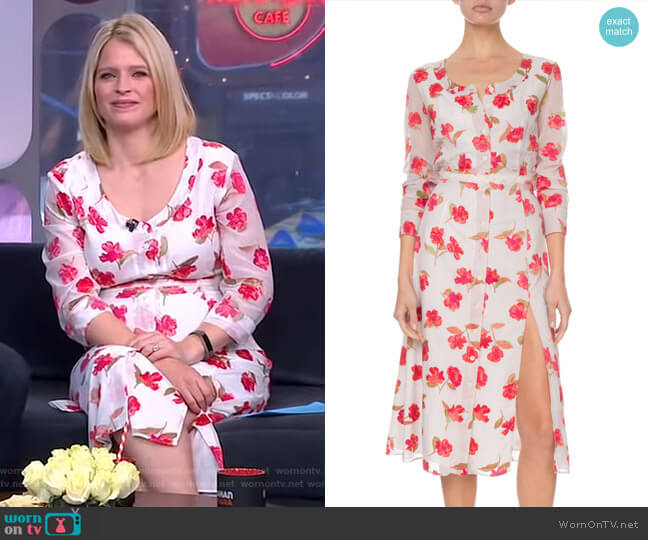 Livia Dress by Altuzarra worn by Sara Haines  on Good Morning America