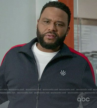 Andre's navy and red track jacket on Black-ish