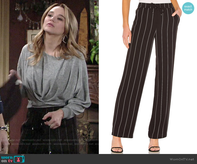 Anine Bing Isabella Pants worn by Summer Newman (Hunter King) on The Young & the Restless