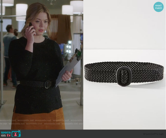 Cara Woven Belt by Anthropologie worn by Alison DiLaurentis (Sasha Pieterse) on PLL The Perfectionists