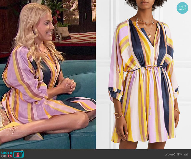 Apiece Apart La Flutte Dress worn by Busy Philipps  on Busy Tonight