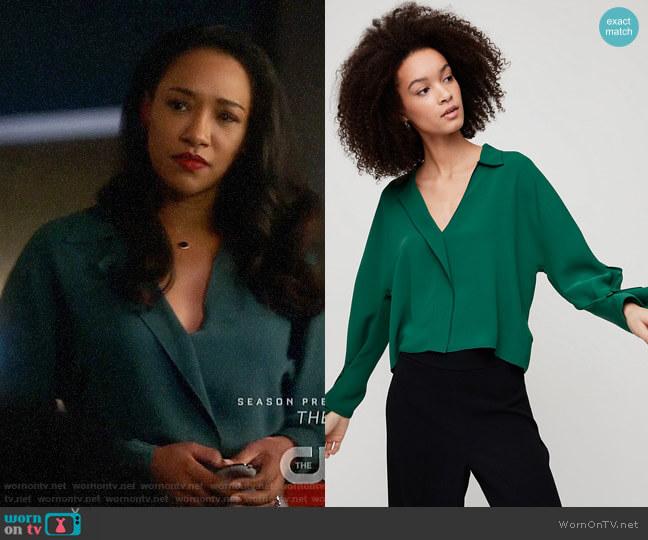 Aritzia Babaton Martin Blouse worn by Iris West (Candice Patton) on The Flash