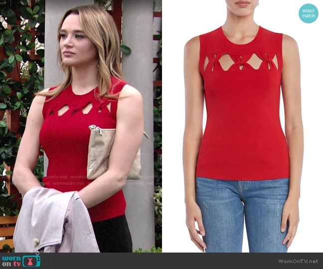 Bailey 44 Expose Sweater worn by Summer Newman (Hunter King) on The Young & the Restless