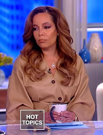 Sunny's beige leather dress on The View