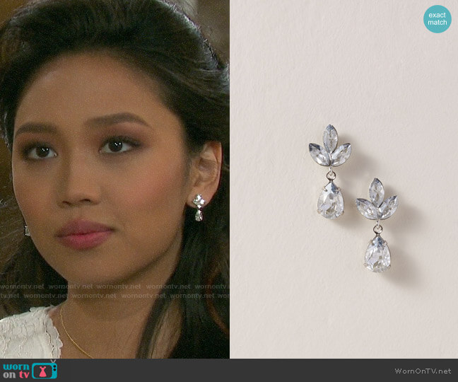 BHLDN Ti Adoro Virginia Drop Earrings worn by Haley Chen (Thia Megia) on Days of our Lives