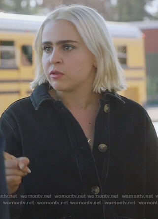 Annie's black denim jacket on Good Girls