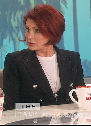 Sharon's double breasted blazer on The Talk