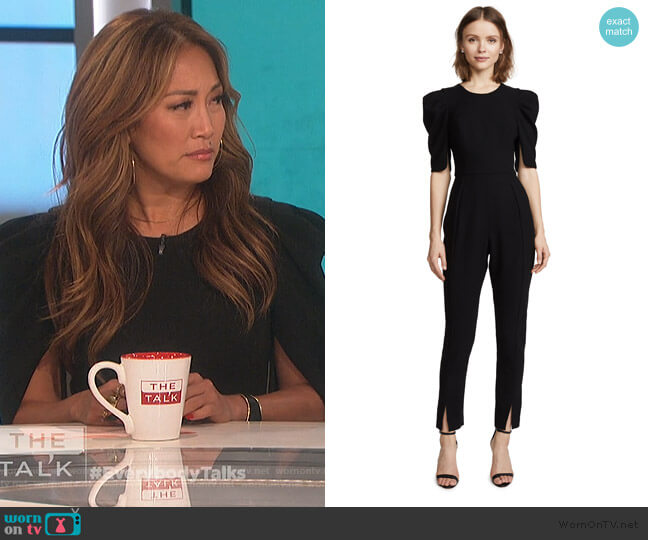 Russo Jumpsuit by Black Halo worn by Carrie Inaba  on The Talk