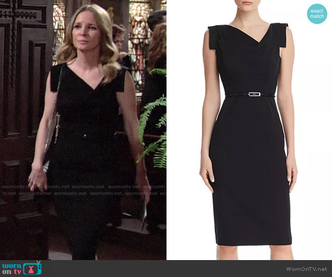 Black Halo Jackie O Dress worn by Christine Blair Williams (Lauralee Bell) on The Young & the Restless