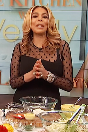 Wendy's black sheer jumpsuit on The Talk