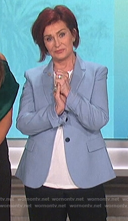 Sharon's blue blazer on The Talk