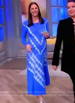 Abby's blue tie dye dress on The View