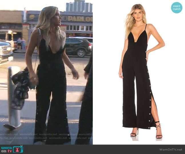 Haven Snap Front Jumpsuit by By the Way worn by Teddi Mellencamp Arroyave  on The Real Housewives of Beverly Hills