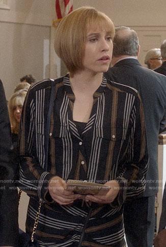 Catherine's striped shirtdress on Veep