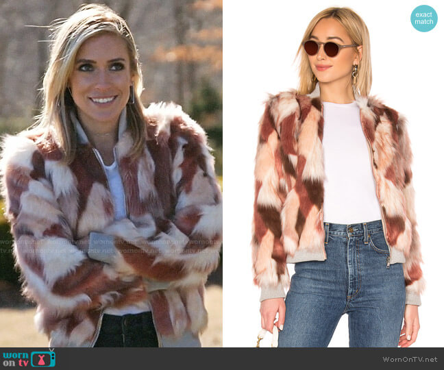 Chaser Faux Fur Bomber Jacket worn by Kristin Cavallari  on Very Cavallari