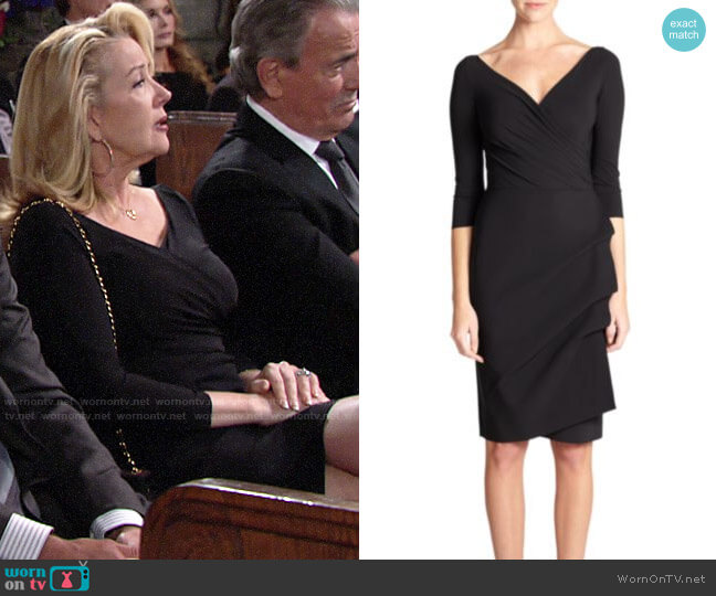 Chiara Boni La Petite Robe Florian Dress worn by Nikki Reed Newman (Melody Thomas-Scott) on The Young & the Restless