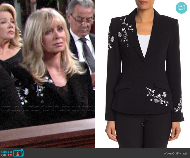 Cinq a Sept Gabrielle Blazer worn by Ashley Abbott (Eileen Davidson) on The Young & the Restless