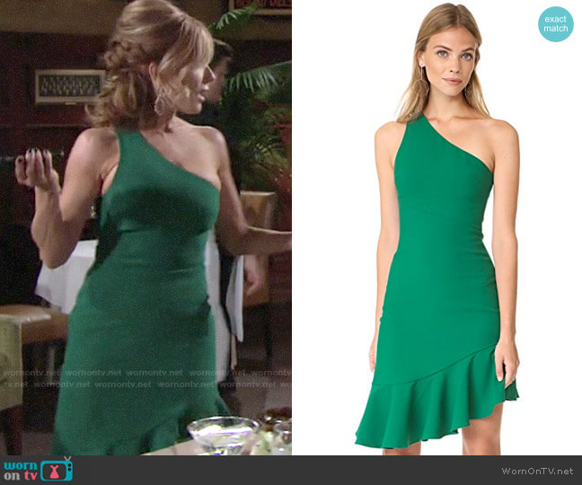 Cinq a Sept Stella Dress worn by Lauren Fenmore (Tracey Bregman) on The Young & the Restless