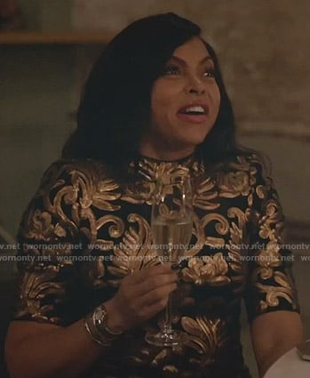 Cookie's black and gold mini dress on Empire