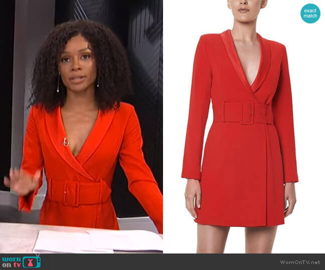 Crepe Wrap Jacket Dress by Santina Nicole worn by Zuri Hall  on E! News