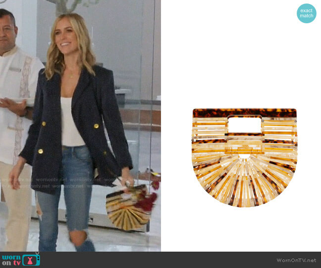 Cult Gaia Ark Mini Amber Clutch worn by Kristin Cavallari (Kristin Cavallari) on Very Cavallari