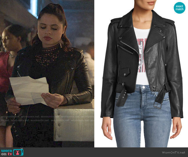 Current/Elliott The Shaina Leather Biker Jacket  worn by Mel Vera (Melonie Diaz) on Charmed
