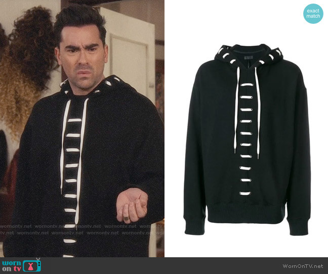 D.Gnak Lace Up Hoodie worn by David Rose (Daniel Levy) on Schitts Creek