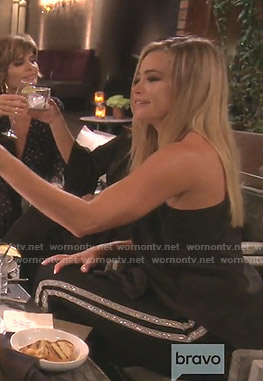 Denise's black sequin side striped pants on The Real Housewives of Beverly Hills