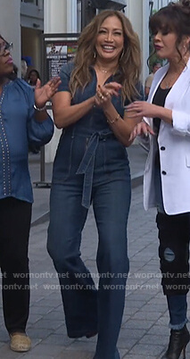 Carrie's denim jumpsuit on The Talk