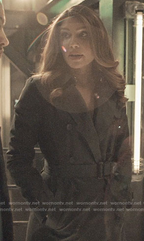 Dinah's black trench coat on Arrow