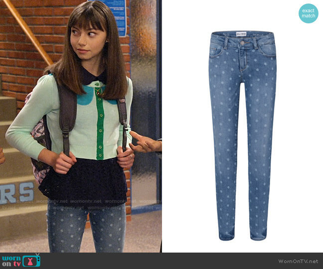 DL1961 Girls Polka Dot Skinny Jeans worn by Molly (Lauren Lindsey Donzis) on No Good Nick