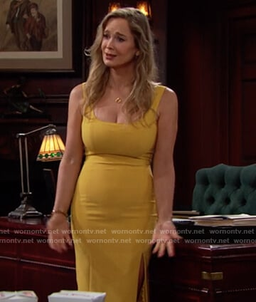 Donna's yellow dress on The Bold and the Beautiful