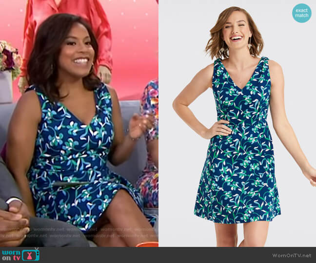 Floral Knot Love Circle Dress by Draper James worn by Sheinelle Jones  on Today