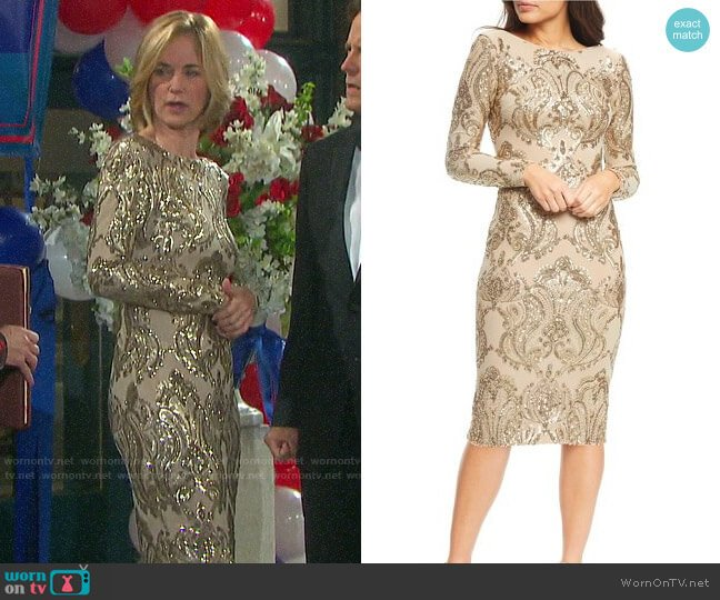 Dress the Population Emery Dress worn by Eve Donovan (Kassie DePaiva) on Days of our Lives