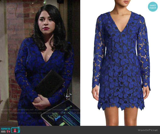 Dress the Population Katherine Dress worn by Mia Rosales (Noemi Gonzalez) on The Young & the Restless