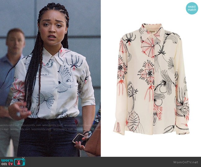 Dries Van Noten Clavello Shirt worn by Kat Edison (Aisha Dee) on The Bold Type