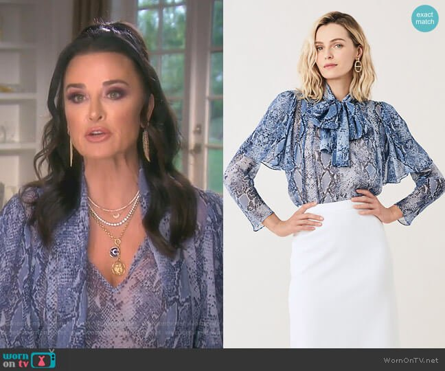 Nami Blouse by Diane von Furstenberg worn by Kyle Richards  on The Real Housewives of Beverly Hills
