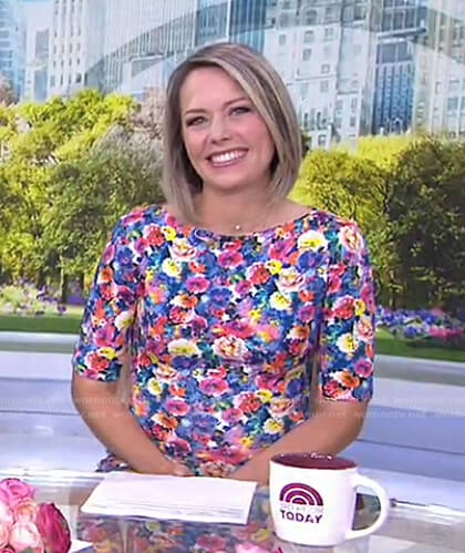 Dylan's floral short sleeve dress on Today