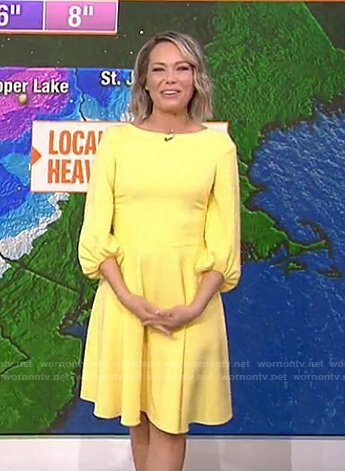 Dylan's yellow balloon sleeve dress on Today