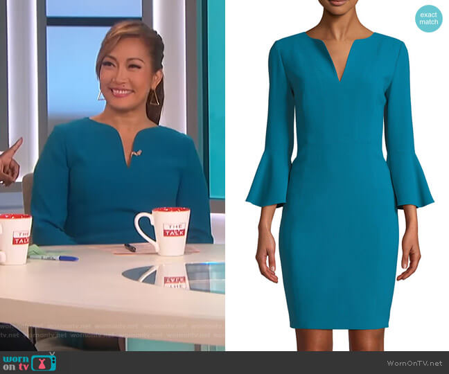 Natanya Dress by Elie Tahari worn by Carrie Inaba  on The Talk