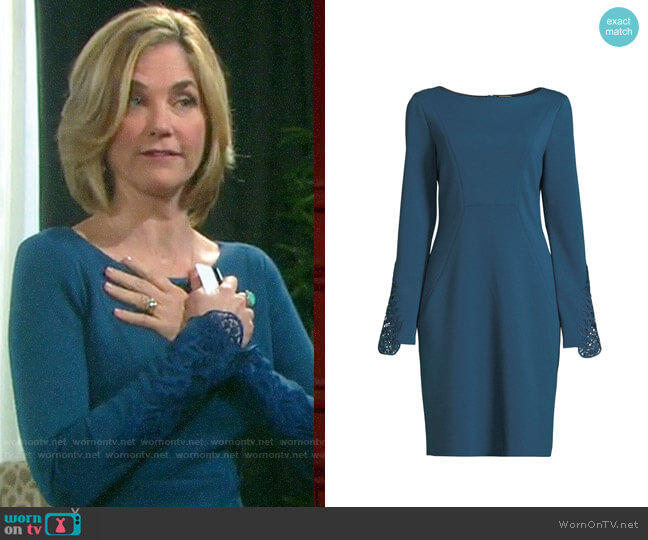 Elie Tahari Azura Dress worn by Eve Donovan (Kassie DePaiva) on Days of our Lives